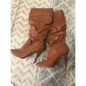 Colin Stuart heeled slouchy boots